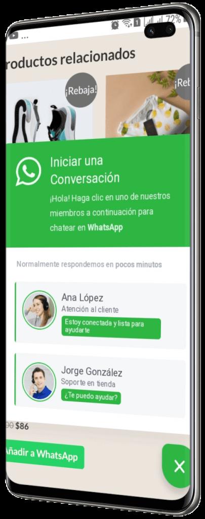 Tienda virtual con chat online - Tienda con WhatsApp - WhatsApp con varios números