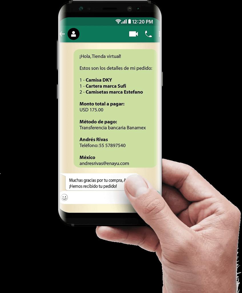 WhatsApp - Atención al cliente online - Chat para tienda virtual