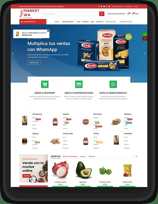 Tienda virtual - Supermercado online - Verduras online
